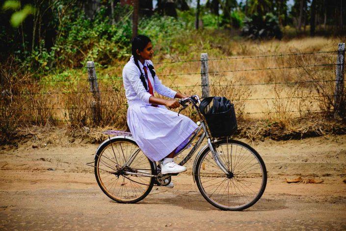 Mädchen in Sri Lanka