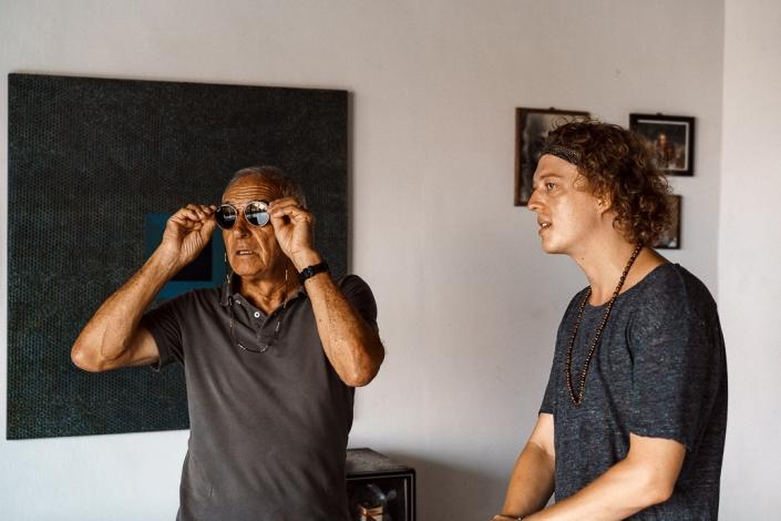 Zwei Künstler Peter Dittmar und Sören Funk