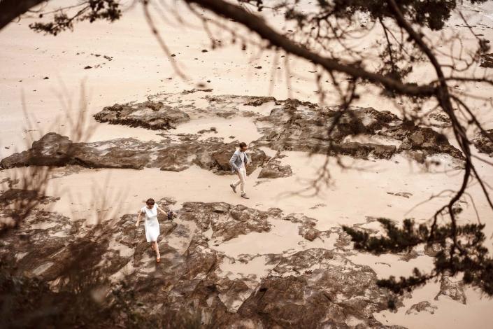 Hochzeitsfotos am Strand