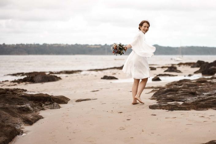 Brautpaar Fotoshooting am Strand